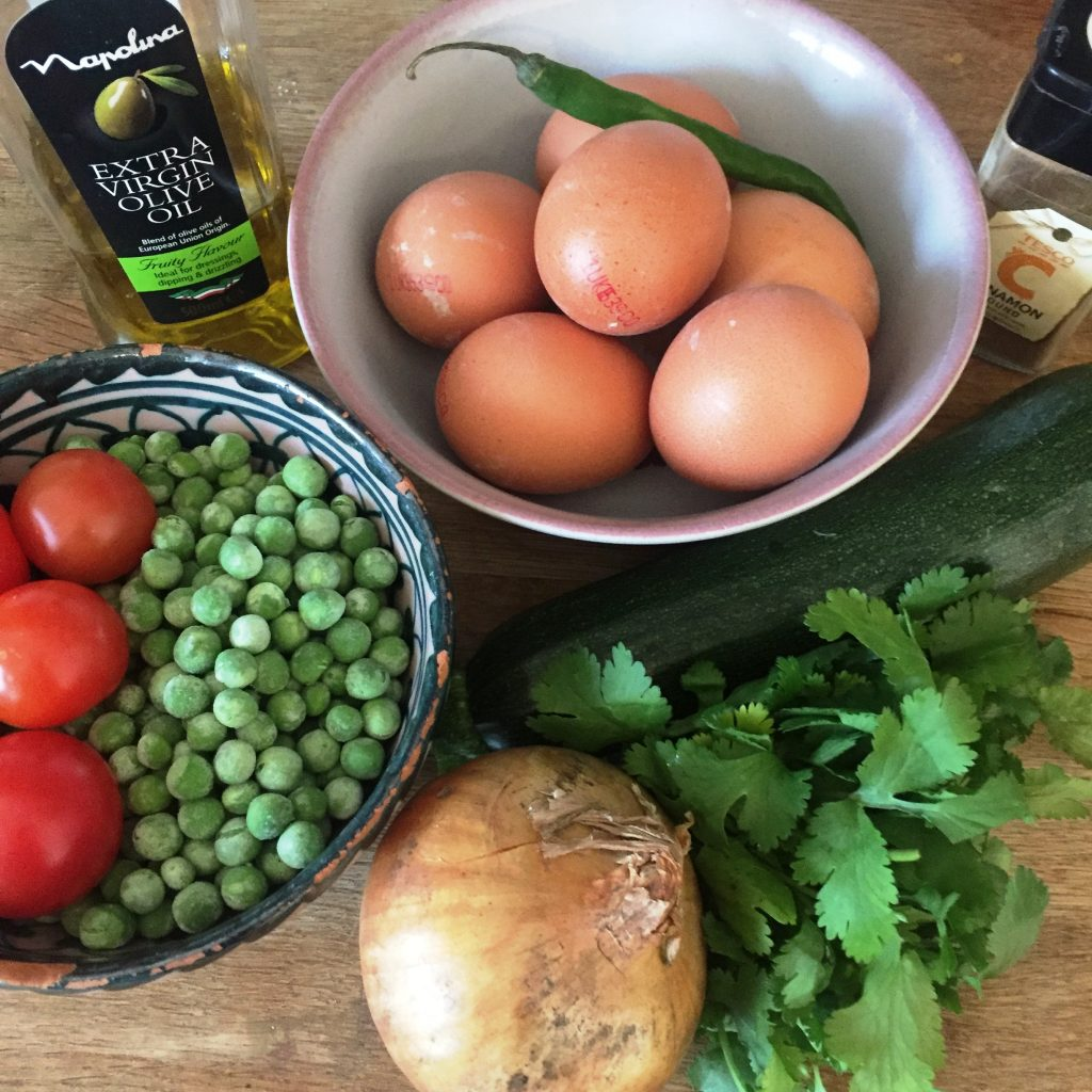 Courgette_Pea_Tortilla Ingredients